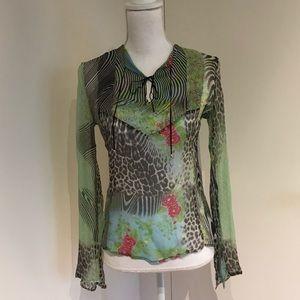 Roberto Cavalli Silk Print Blouse NWOT